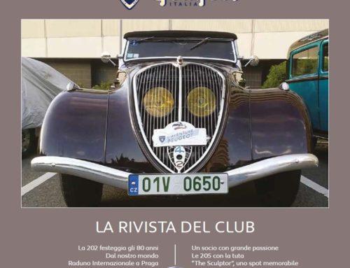 Il Raduno Nazionale 2018 sulla Rivista del Club Storico Peugeot Italia